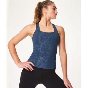 Sweaty Betty super sculpt yoga tank top blue NWT